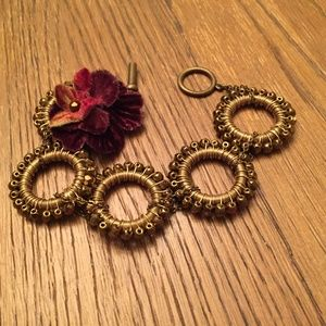 Lee Angel Brass Tone Bracelet
